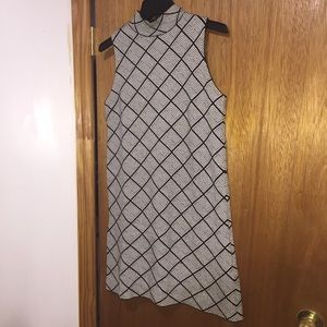 Zara grid-patterned dress Sz M